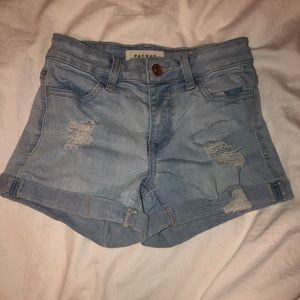 Pac sun denim ripped jean shorts